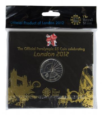 2012 £5 London 2012 Paralympics Pack Royal Mint Brilliant Uncirculated pack